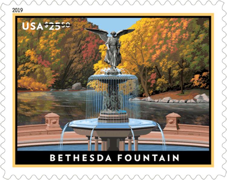 美国1月27日发行贝塞斯达喷泉优先邮票