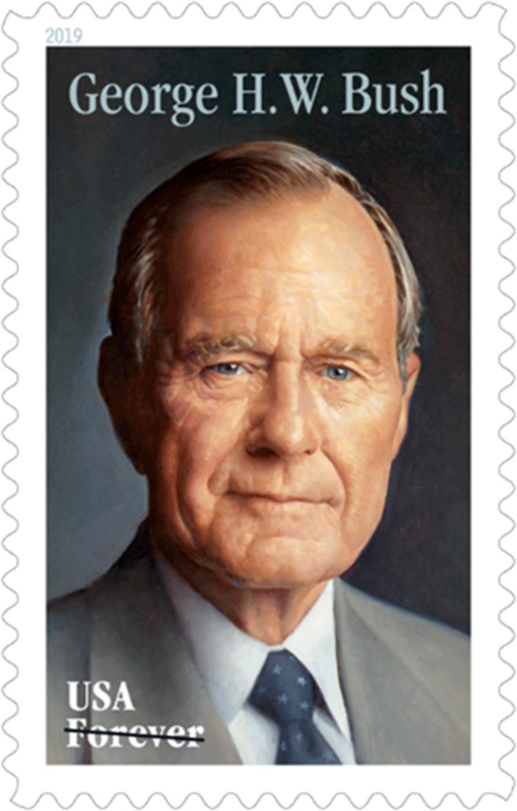 美国6月12日发行乔治・H・W・布什邮票