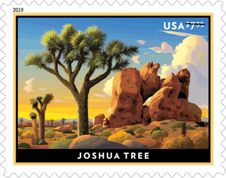 美国1月27日发行约书亚树优先邮票