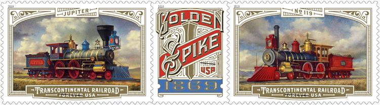 美国5月10日发行横贯大陆的铁路邮票