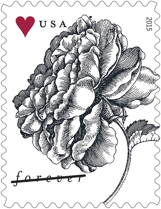 Vintage Rose & Tulip (Weddings) (U S  2015) | virtualstampclub com