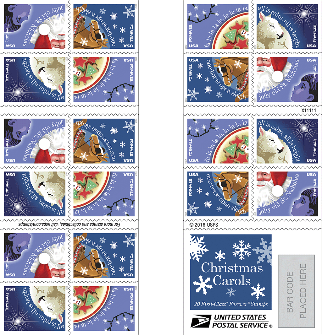 Post office christmas stamps