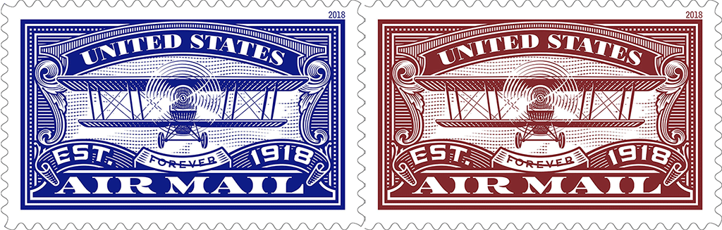 First Of Two United States Air Mail Forever Stamps To Be Dedicated May 1