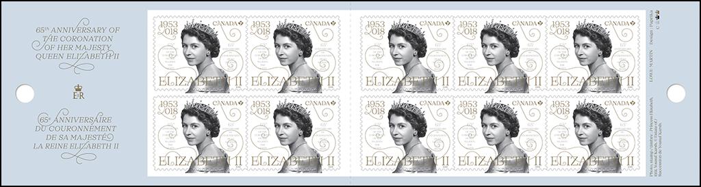 加拿大4月20日发行伊丽莎白二世女王加冕65周年邮票