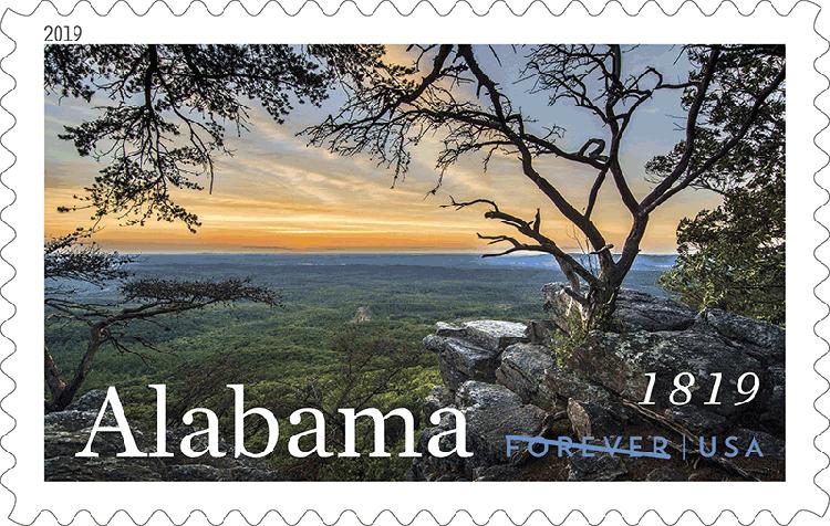 美国2月23日发行阿拉巴马州200年邮票